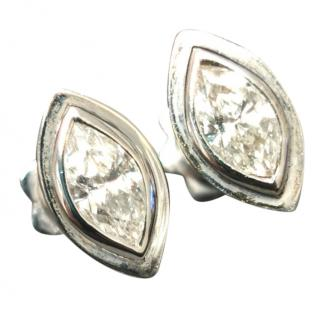 Bespoke White Gold 1.00ct Marquise Diamond Earrings