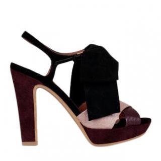 See By Chloe Burgundy Suede Platform Sandals