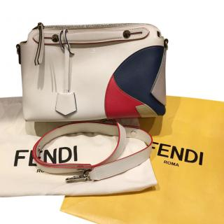 Fendi White, Blue & Red By The Way Bag
