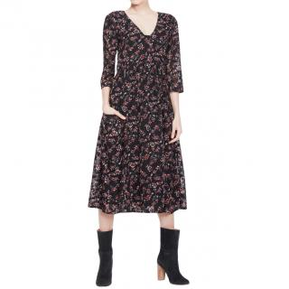 Ba&Sh Floral Print V-Neck Dress