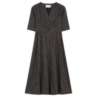 Ba&Sh Black Printed Midi Dress