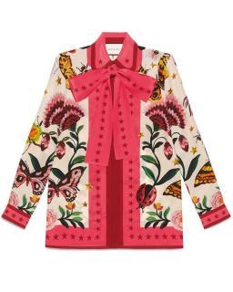 Gucci Capsule Collection Garden Print SIlk Shirt