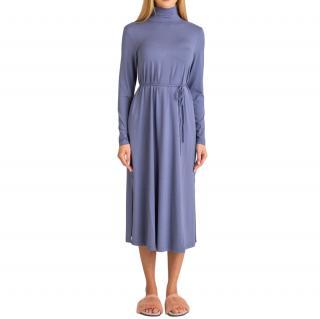 MaxMara blue jersey midi dress