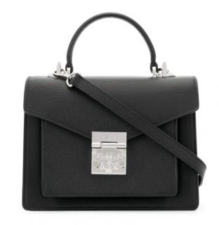 MCM Black Leather Eagle Mini Bag