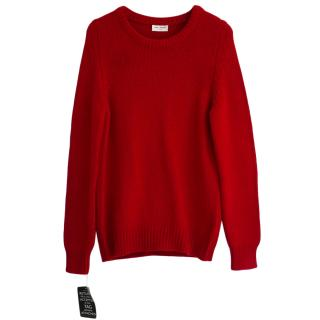 Saint Laurent Red Cashmere Jumper