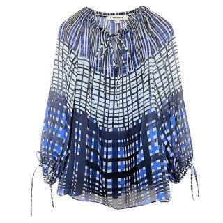 Natan Blue & White Printed Tunic