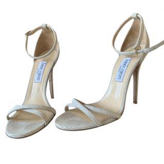 Jimmy Choo Lizard Embossed Sandals