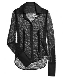 Alexander Wang Sheer Lace Black Shirt