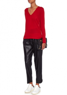 Isabel Marant Jan Easy Faux-leather Trousers