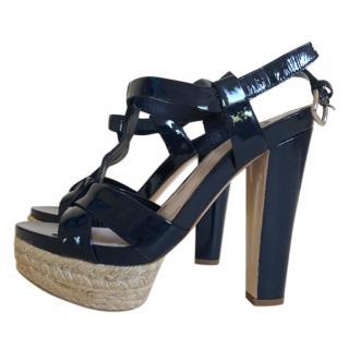 Miu Miu Navy Espadrille Sandals