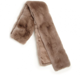 Max Mara Brown Moira Rabbit Fur Scarf