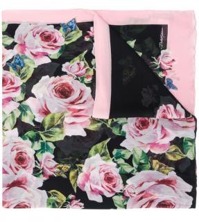 Dolce & Gabbana butterflies and roses print scarf/wrap