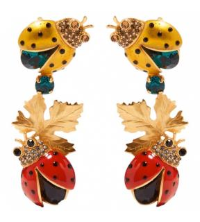 Dolce & Gabbana ladybird bug embellished earrings