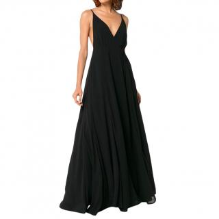 Reformation Black V-Neck Gown