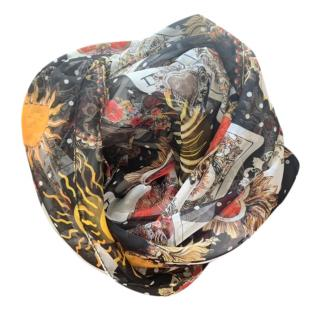 Dolce & Gabbana Queen of Hearts Print Wrap Scarf