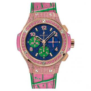 Hublot Rose Gold Big Bang Pop Art Sapphire Watch