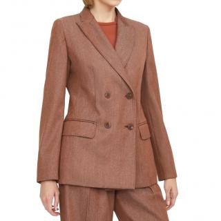 Max Mara Virgin Wool Double Breasted Blazer