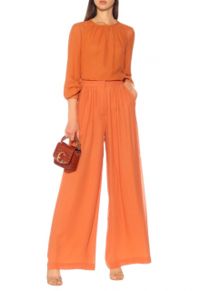 Max Mara Dolly Silk Georgette wide leg pants