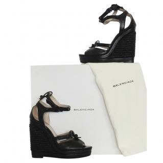 Balenciaga black leather