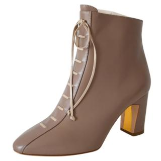 Rupert Sanderson Beige Leather Zadara Ankle Boots