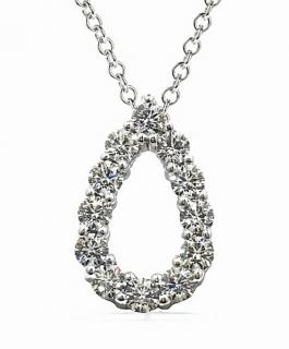 Hearts on fire teardrop diamond pendant