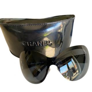 Chanel Oversize Aviator Quilted Sunglasses