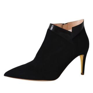Rupert Sanderson Clare Black Suede Ankle Boots
