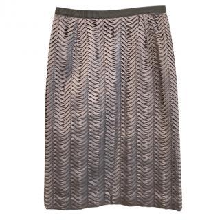 Dolce & Gabbana Silk Pleated Skirt