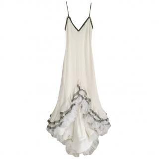 Chanel Ivory Silk & Chiffon Lace Gown