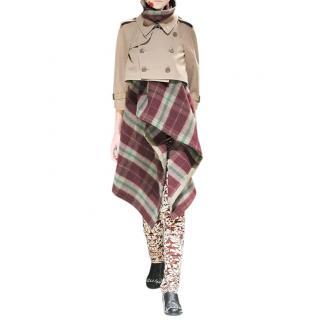 Comme Des Garcons Blanket Trench Coat