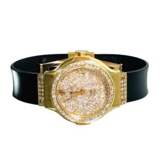 Hublot Yellow Gold MDM 4ct Diamond Watch