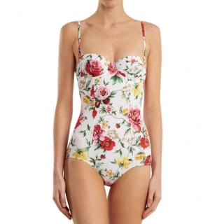 Dolce & Gabbana Floral-Print Balconette Swimsuit