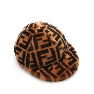 Fendi Zucca Print Wool Cap
