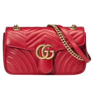 Gucci  Gucci GG Marmont small matelass� shoulder bag
