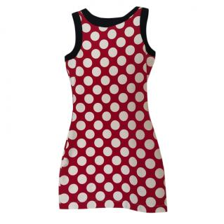 Love Moschino Red & White Spotted Mini Dress