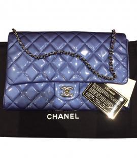 Chanel Metallic Patent Blue Flap Bag