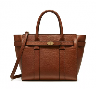 Mulberry Small Zipped Bayswater Oak Natural Grain Leather