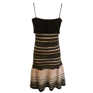 M Missoni Merino Wool Stripe Knit Dress