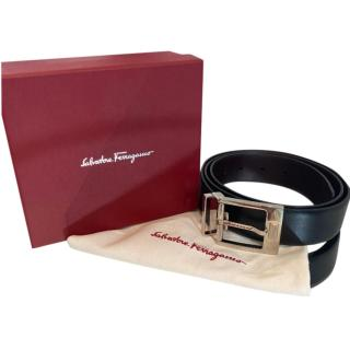 Salvatore Ferragamo Reversible Black & Brown Leather Belt