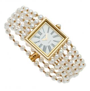Chanel Akoya Pearl & Yellow Gold Mademoiselle Watch