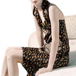 Miu Miu vintage collectible ad campaign tulip print dress