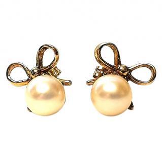 Mikimoto vintage 6.5mm pearl earrings