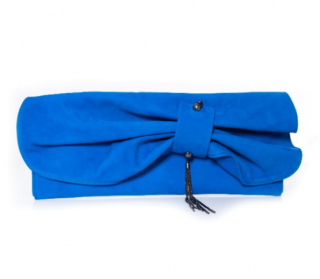 Miason Du Posh Blue Leather Clutch