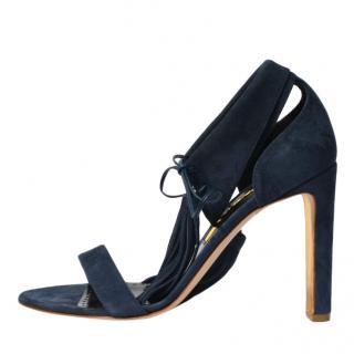Rupert Sanderson Countess Bluebonn Suede Sandals