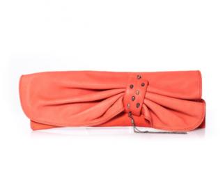 Maison Du Posh coral pink clutch