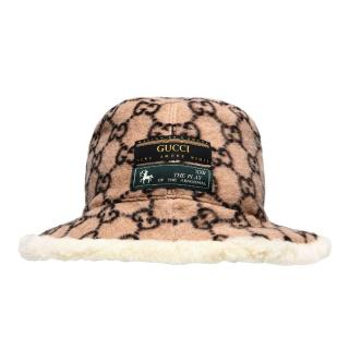 Guccu Wool Monogram Bucket Hat