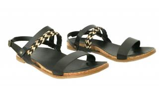 Ugg Chevron, Black & Gold Sandals