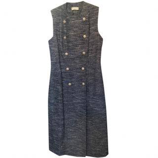 Balenciaga Knit Button Front Midi Dress