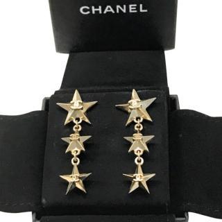 Chanel Star Drop Earrings