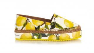 Dolce & Gabbana Lemon Print Espadrilles